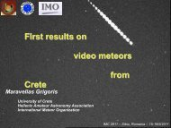 First results on video meteors from Crete - International Meteor ...
