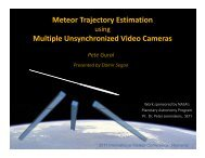 New trajectory estimation software - International Meteor Organization