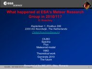 Meteor news from ESA/RSSD's meteor research group