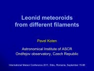 Leonid meteoroids from different filaments - International Meteor ...