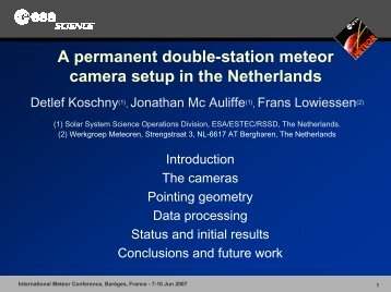 Data analysis of double-station meteors - International Meteor ...