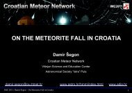 on the meteorite fall in croatia - International Meteor Organization