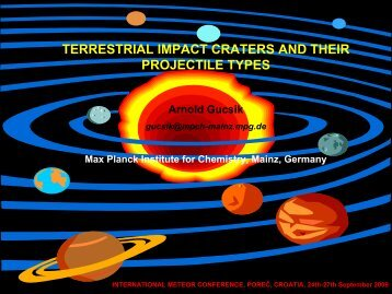 terrestrial impact craters and their projectile types - International ...