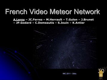 French Meteor Survey Network