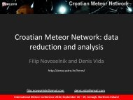 Croatian Meteor Network: data reduction and analysis - International ...