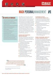 MACH PERSONALMANAGEMENT - K21 media AG