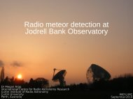 Megan Argo: The Jodrell Bank Meteor Detector - International ...