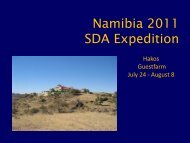 Delta aquarid expedition to Namibia and Draconid plans