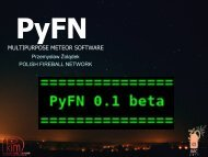 PyFN - Meteor Analysis Software