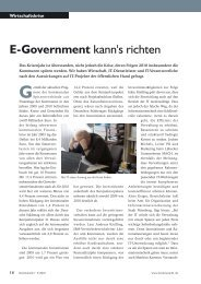 E-Government kann's richten - K21 media AG
