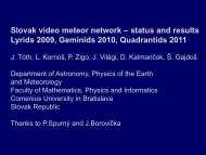 Slovak video meteor network – status and results Lyrids 2009 ...