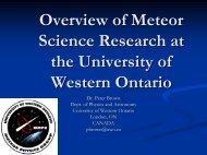 An Overview of the Meteor Research Program at the University of ...