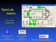 SpecLab basics.pdf - International Meteor Organization