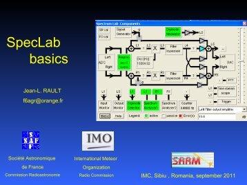 SpecLab basics.pdf - International Meteor Organization
