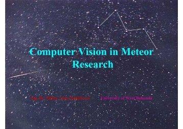 Eliška Anna Kubičková: Computer Vision in Meteor Research