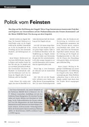Politik vom Feinsten - K21 media AG
