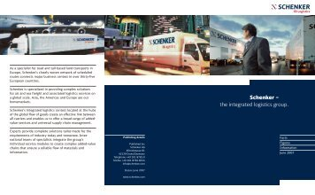 Schenker – the integrated logistics group.
