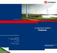 La logistique dédiée à l'Industrie. - Schenker