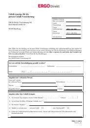 Unfall-Anzeige für die Private Unfallversicherung - ERGO Direkt ...