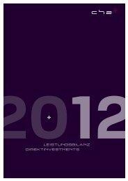 LeistungsbiLanz Direktinvestments - CH2 AG