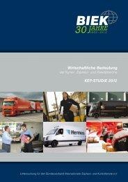 Wirtschaftliche Bedeutung KEP-StudIE 2012 - BIEK