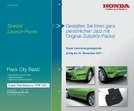 Pack City Basic - Honda