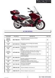 Page 1 ACCESSOIRE NO. ARTICLE 2012 F.R.T NC 700D ...
