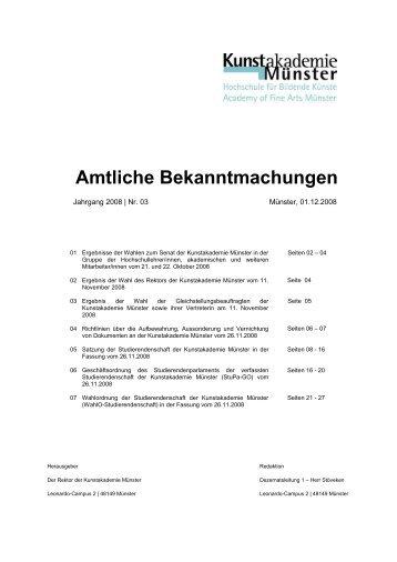 Nummer 3 - Kunstakademie Münster