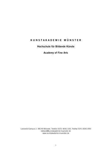 Wintersemester 2013/14 - Kunstakademie Münster