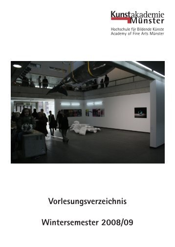 Wintersemester 2008/09 - Kunstakademie Münster
