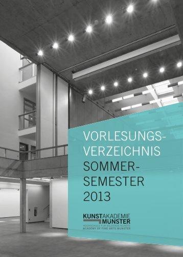 Sommersemester 2013 - Kunstakademie Münster