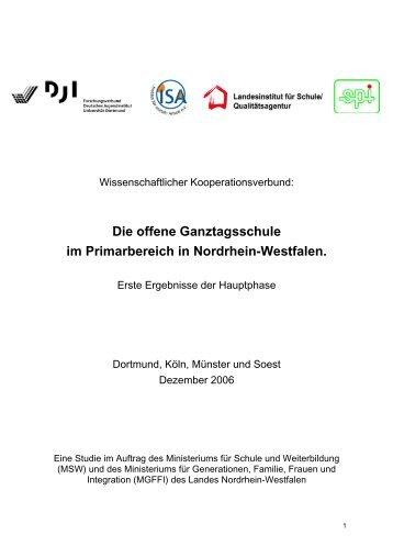 Die offene Ganztagsschule im Primarbereich in Nordrhein ...