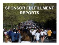 SPONSOR FULFILLMENT REPORTS