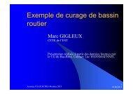Exemple de curage de bassin routier - Marc Gigleux - Sétra
