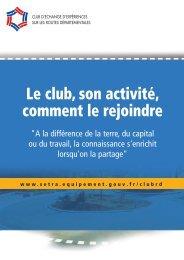 Plaquette de présentation du Club - Sétra
