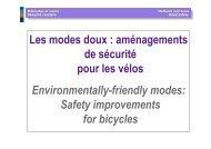 Les modes doux : aménagements de sécurité pour les vélos ...