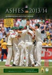 ASHES 2013/14 - Cricket Australia Travel Office