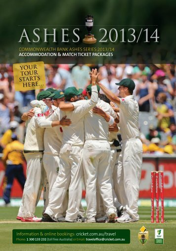 ASHES 2013/14 - Cricket Australia Travel Office