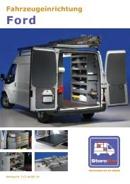 Fahrzeugeinrichtungen Ford - HARTL Betriebseinrichtungen
