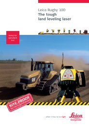 Leica Rugby 100 The tough land leveling laser - Leica Geosystems