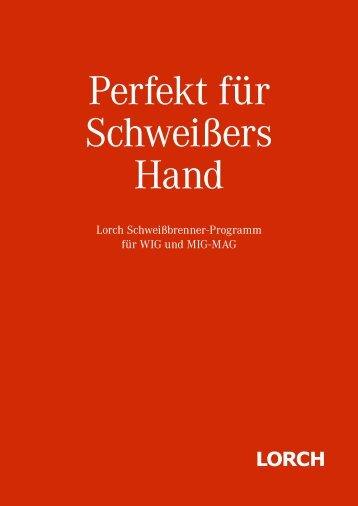 Lorch Schweißbrenner-Programm für WIG und MIG-MAG