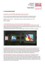 Halle Zehn, Video-Installation 'Flag Metamorphoses' - Myriam Thyes