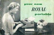 Royal portable manual - typewriters.ch