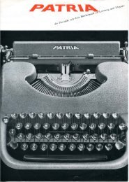 Patria Prospekt - typewriters.ch