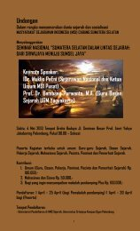 Pamflet Seminar Nasional MSI - Universitas Sriwijaya - Indralaya ...