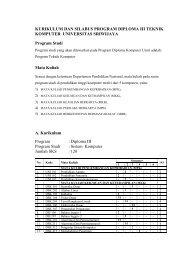 PROGRAM STUDI DAN MATA KULIAH - Universitas Sriwijaya