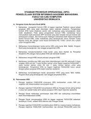 standar prosedur operasional (spo) pengelolaan sistem informasi