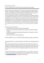 Ergebnisdokumentation Foren der Regionalen Landentwicklung im ...