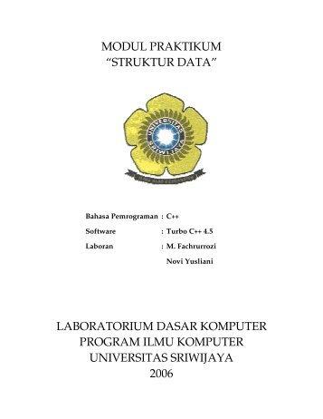 Bab 4. LINKED LIST - Universitas Sriwijaya