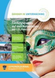 GJUnterhaching 01_2013.pdf (3,6 MB) - Gemeinde Unterhaching